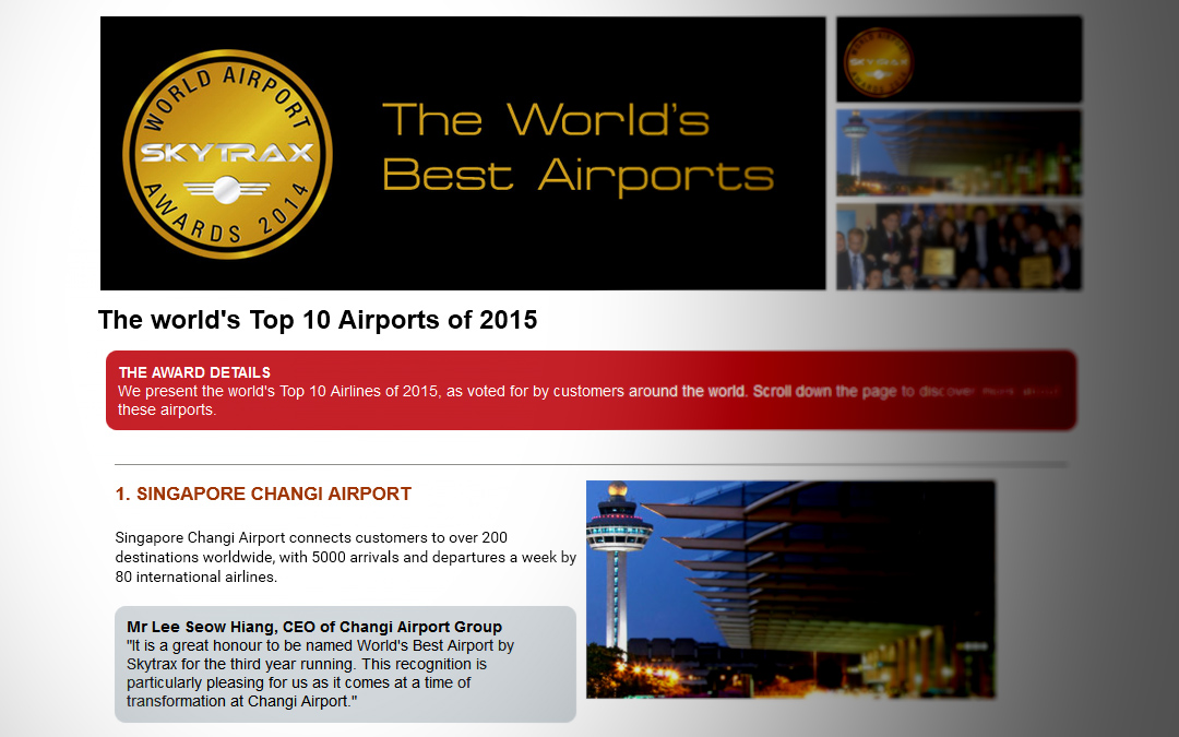 The World's Top 10 Airports of 2015